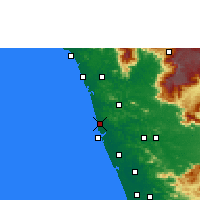 Nearby Forecast Locations - Tirur - Carte