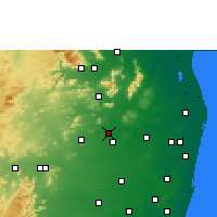 Nearby Forecast Locations - Thiruttani - Carte