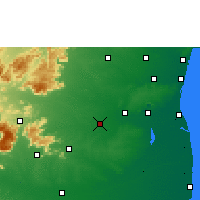 Nearby Forecast Locations - Tittakudi - Carte