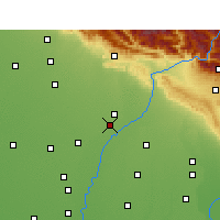 Nearby Forecast Locations - Yamunanagar - Carte