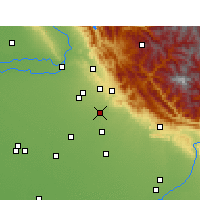 Nearby Forecast Locations - Zirakpur - Carte