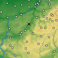 Nearby Forecast Locations - Durbuy - Carte