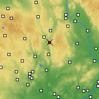 Nearby Forecast Locations - Boskovice - Carte