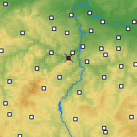 Nearby Forecast Locations - Dobřichovice - Carte