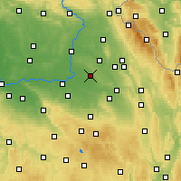 Nearby Forecast Locations - Holice - Carte