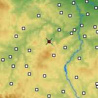 Nearby Forecast Locations - Hořovice - Carte