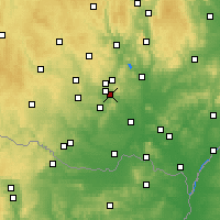 Nearby Forecast Locations - Ivančice - Carte