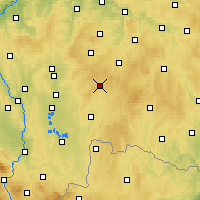 Nearby Forecast Locations - Kamenice nad Lipou - Carte