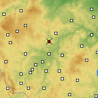 Nearby Forecast Locations - Kaznějov - Carte
