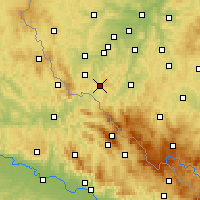 Nearby Forecast Locations - Kdyně - Carte