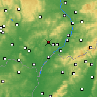 Nearby Forecast Locations - Kyjov - Carte