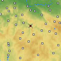 Nearby Forecast Locations - Ledeč nad Sázavou - Carte