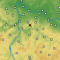 Nearby Forecast Locations - Mnichovice - Carte