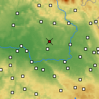 Nearby Forecast Locations - Nový Bydžov - Carte