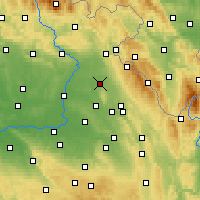 Nearby Forecast Locations - Opočno - Carte