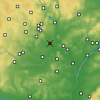 Nearby Forecast Locations - Pohořelice - Carte