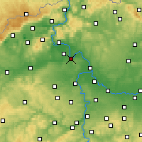 Nearby Forecast Locations - Roudnice nad Labem - Carte