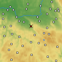 Nearby Forecast Locations - Třemošnice - Carte