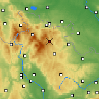 Nearby Forecast Locations - Vrbno pod Pradědem - Carte