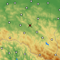 Nearby Forecast Locations - Brzozów - Carte