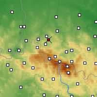 Nearby Forecast Locations - Gryfów Śląski - Carte