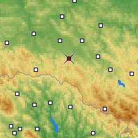 Nearby Forecast Locations - Rymanów - Carte