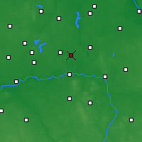 Nearby Forecast Locations - Ślesin - Carte