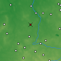 Nearby Forecast Locations - Złoczew - Carte