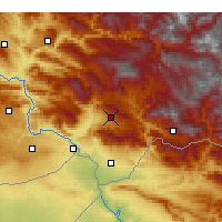 Nearby Forecast Locations - Şırnak - Carte