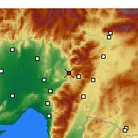 Nearby Forecast Locations - Düziçi - Carte