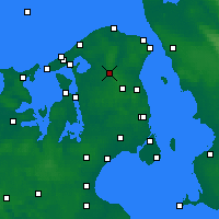 Nearby Forecast Locations - Hillerød - Carte