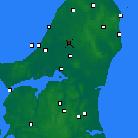 Nearby Forecast Locations - Brønderslev - Carte