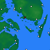 Nearby Forecast Locations - Fåborg - Carte