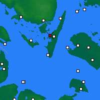 Nearby Forecast Locations - Rudkøbing - Carte