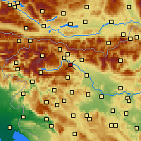 Nearby Forecast Locations - Radovljica - Carte