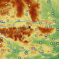 Nearby Forecast Locations - Prevalje - Carte