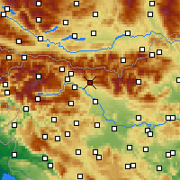 Nearby Forecast Locations - Tržič - Carte