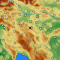 Nearby Forecast Locations - Velike Lašče - Carte