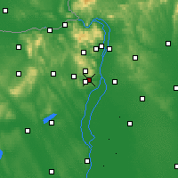 Nearby Forecast Locations - Budaörs - Carte
