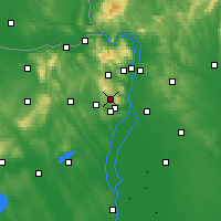 Nearby Forecast Locations - Budakeszi - Carte