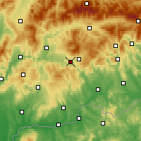Nearby Forecast Locations - Detva - Carte