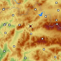 Nearby Forecast Locations - Dolný Kubín - Carte