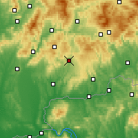 Nearby Forecast Locations - Krupina - Carte