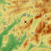 Nearby Forecast Locations - Rajec - Carte