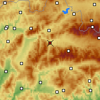 Nearby Forecast Locations - Ružomberok - Carte