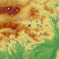 Nearby Forecast Locations - Spišská Nová Ves - Carte