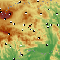 Nearby Forecast Locations - Spišské Podhradie - Carte