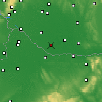 Nearby Forecast Locations - Veľký Meder - Carte