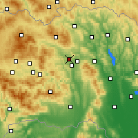 Nearby Forecast Locations - Veľký Šariš - Carte
