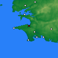 Nearby Forecast Locations - Douarnenez - Carte